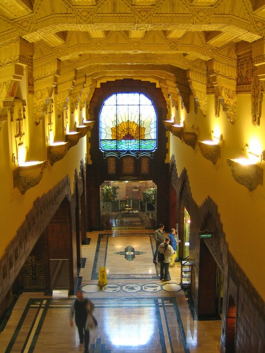 The Lobby of the Marine Building.