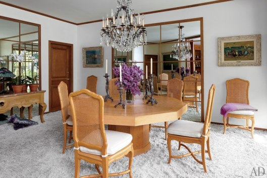 The table is vinrtage Galle C.1930 from Paris. Chairs are Louis XV Style