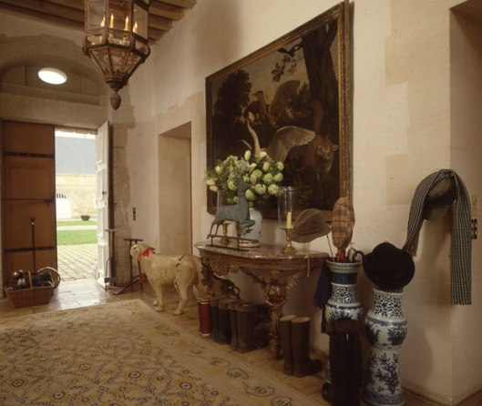 A hallway at Givenchy's La Jonchet manor