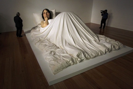 'In Bed' by Ron Mueck.