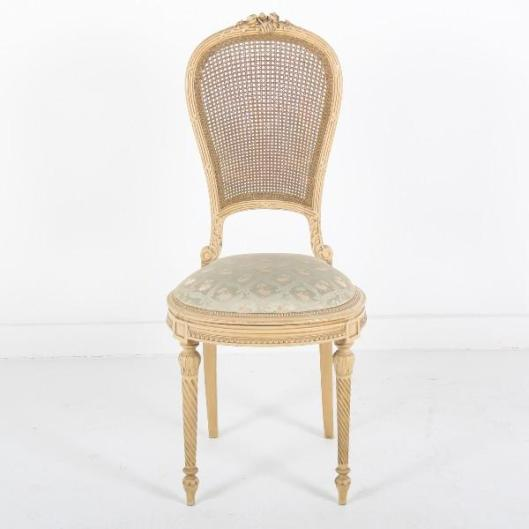 This white antique chair just came in on our recent container and sold within the day. of unpacking. Notice the white, is a yellow and not a pure white which is indicative of it's age. (white always yellows over time)